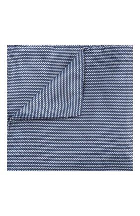 Мужской шелковый платок GIORGIO ARMANI синего цвета, арт. 360023/9P912 | Фото 1