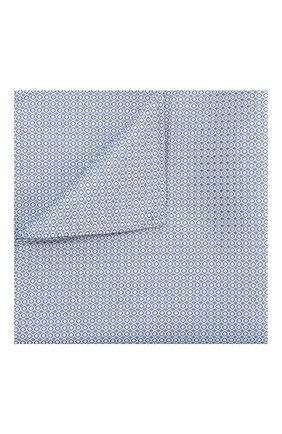 Мужской шелковый платок GIORGIO ARMANI голубого цвета, арт. 360023/9P931 | Фото 1
