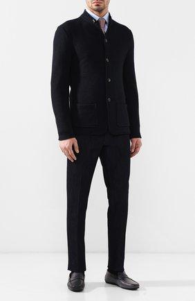 Мужские кожаные мокасины TOD'S темно-серого цвета, арт. XXM0LR00011D9C | Фото 2