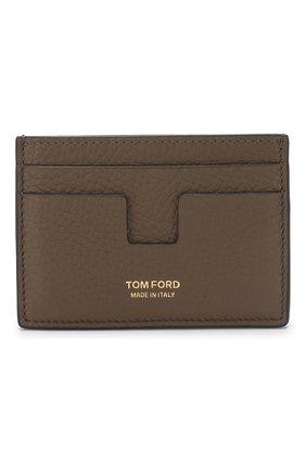 Мужской кожаный футляр для кредитных карт TOM FORD хаки цвета, арт. Y0232T-CP9 | Фото 1