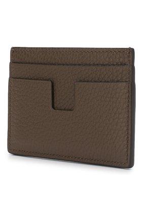 Мужской кожаный футляр для кредитных карт TOM FORD хаки цвета, арт. Y0232T-CP9 | Фото 2
