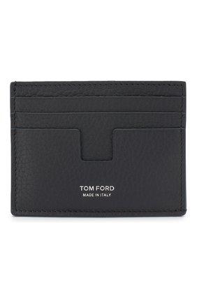 Мужской кожаный футляр для кредитных карт TOM FORD темно-синего цвета, арт. Y0233P-CP9 | Фото 1