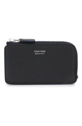 Мужской кожаный футляр для кредитных карт TOM FORD темно-синего цвета, арт. Y0238P-CP9 | Фото 1