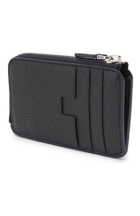 Мужской кожаный футляр для кредитных карт TOM FORD темно-синего цвета, арт. Y0238P-CP9 | Фото 2