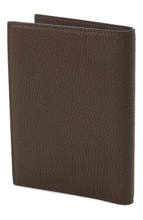 Мужская кожаная обложка для паспорта TOM FORD хаки цвета, арт. Y0274T-CP9 | Фото 2