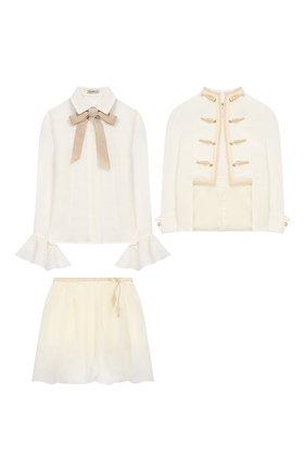 Комплект из юбки и блузы с жакетом | Фото №1