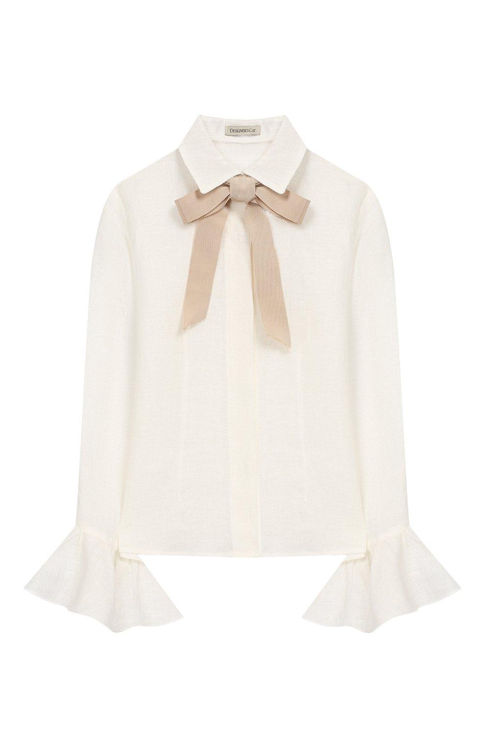 Детский комплект из юбки и блузы с жакетом DESIGNERS CAT бежевого цвета, арт. 100000K01000090/4A-8A   Фото 3