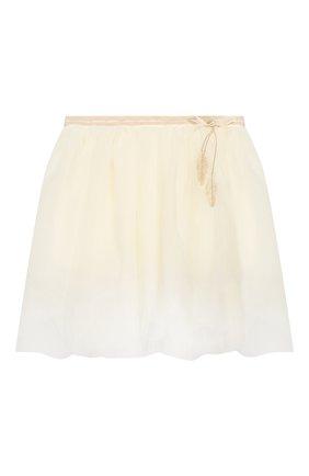 Детский комплект из юбки и блузы с жакетом DESIGNERS CAT бежевого цвета, арт. 100000K01000090/4A-8A   Фото 4
