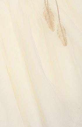 Детский комплект из юбки и блузы с жакетом DESIGNERS CAT бежевого цвета, арт. 100000K01000090/4A-8A   Фото 6