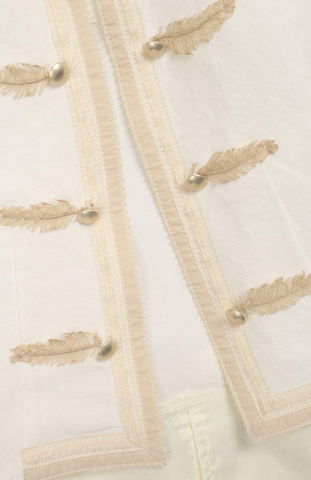 Детский комплект из юбки и блузы с жакетом DESIGNERS CAT бежевого цвета, арт. 100000K01000090/4A-8A   Фото 8