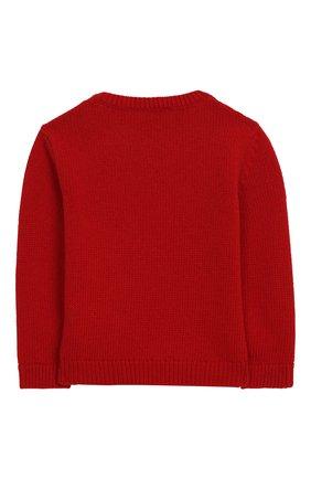 Детский пуловер из шерсти и кашемира DOLCE & GABBANA красного цвета, арт. L1KW29/JAVNI   Фото 2