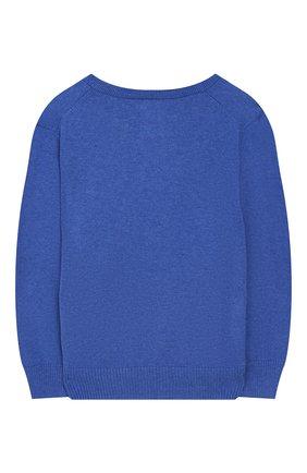 Детский хлопковый пуловер POLO RALPH LAUREN голубого цвета, арт. 322702188 | Фото 2 (Материал внешний: Хлопок; Рукава: Длинные; Статус проверки: Проверено; Мальчики Кросс-КТ: Пуловер-одежда)
