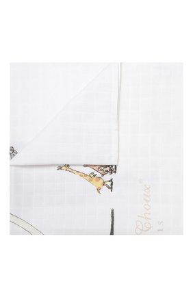 Детского хлопковая пеленка ATELIER CHOUX белого цвета, арт. MINI CARRE ATELIER CH0UX | Фото 1