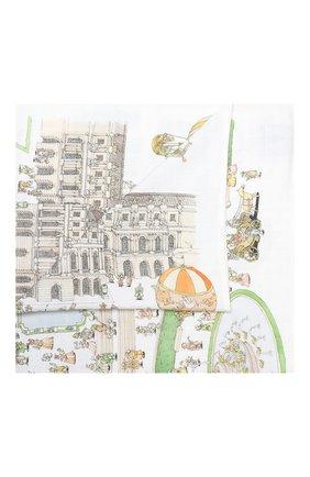 Детского хлопковая пеленка ATELIER CHOUX белого цвета, арт. CARRE VERSAILLES | Фото 1