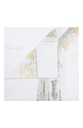Детского хлопковая пеленка ATELIER CHOUX белого цвета, арт. CARRE T0WER`S BRIDGE | Фото 1