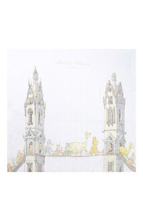 Детского хлопковая пеленка ATELIER CHOUX белого цвета, арт. CARRE T0WER`S BRIDGE | Фото 2
