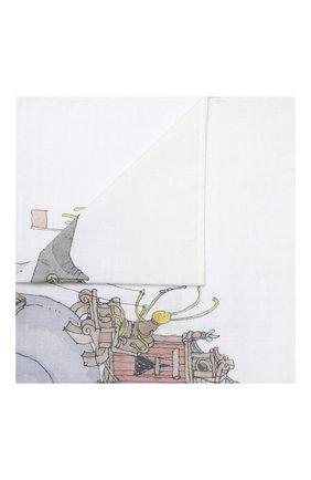 Детского хлопковая пеленка ATELIER CHOUX белого цвета, арт. CARRE SNAIL RIDING | Фото 1