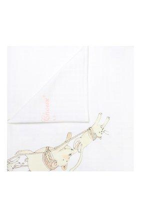 Детского хлопковая пеленка ATELIER CHOUX белого цвета, арт. CARRE SANTA`S SLEIGH | Фото 1