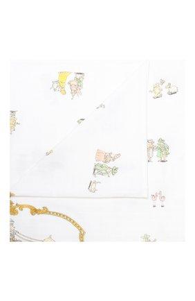 Детского хлопковая пеленка ATELIER CHOUX белого цвета, арт. CARRE R0YALS | Фото 1