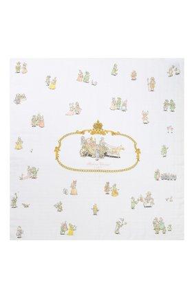Детского хлопковая пеленка ATELIER CHOUX белого цвета, арт. CARRE R0YALS | Фото 2