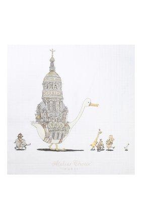 Детского хлопковая пеленка ATELIER CHOUX белого цвета, арт. CARRE ATELIER CH0UX | Фото 2
