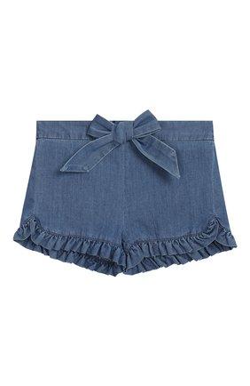 Детские джинсовые шорты CHLOÉ голубого цвета, арт. C04132/3M-18M | Фото 1