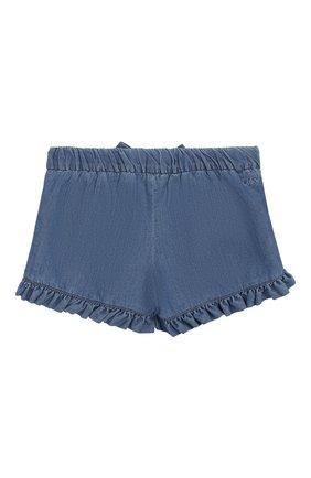 Детские джинсовые шорты CHLOÉ голубого цвета, арт. C04132/3M-18M | Фото 2