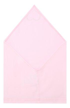 Детская хлопковая бандана IL TRENINO розового цвета, арт. 19 8524/E0 | Фото 2