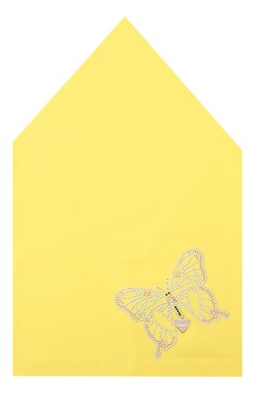 Детская хлопковая бандана IL TRENINO желтого цвета, арт. 19 8525/E0 | Фото 1