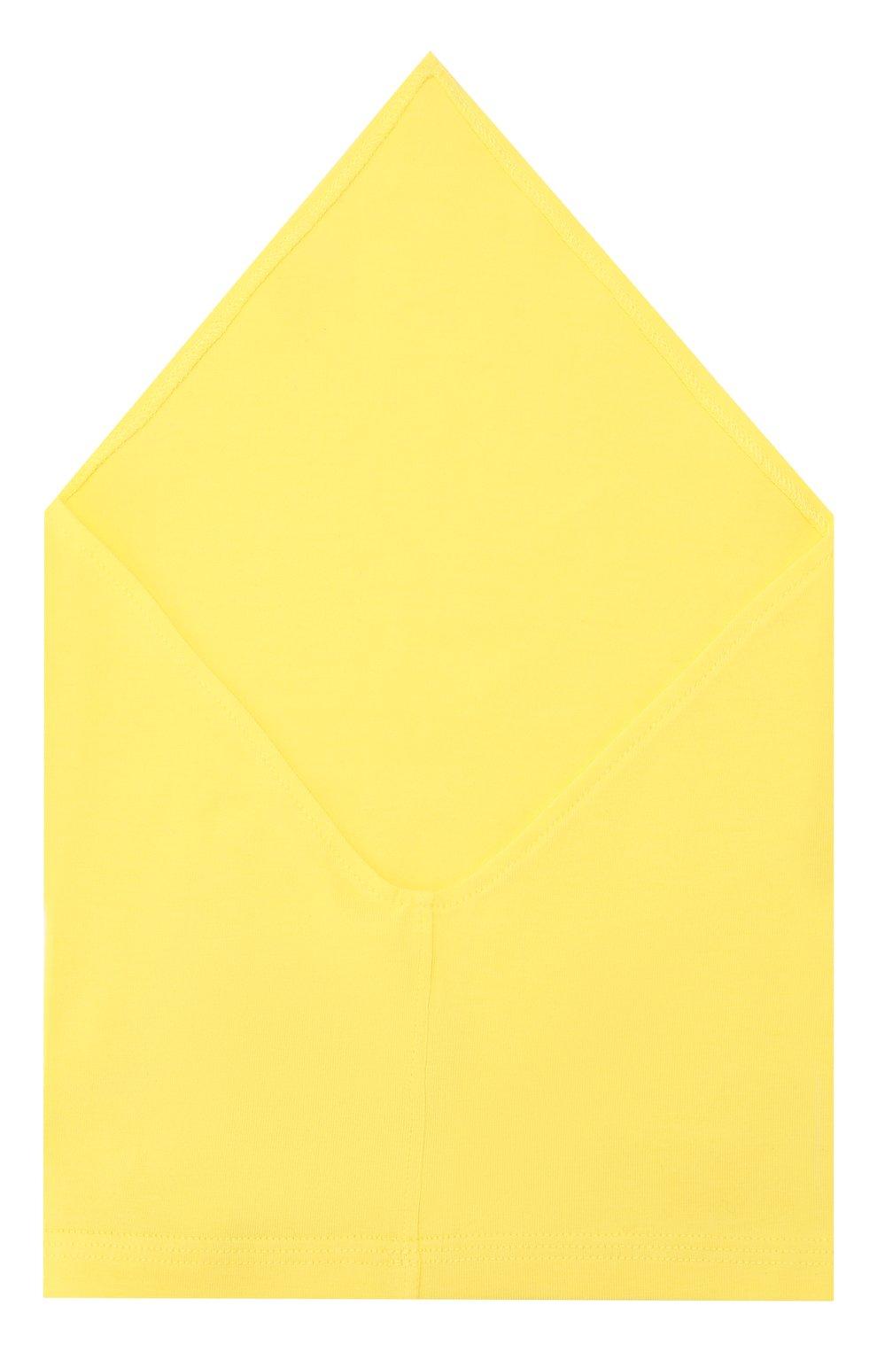 Детская хлопковая бандана IL TRENINO желтого цвета, арт. 19 8525/E0 | Фото 2