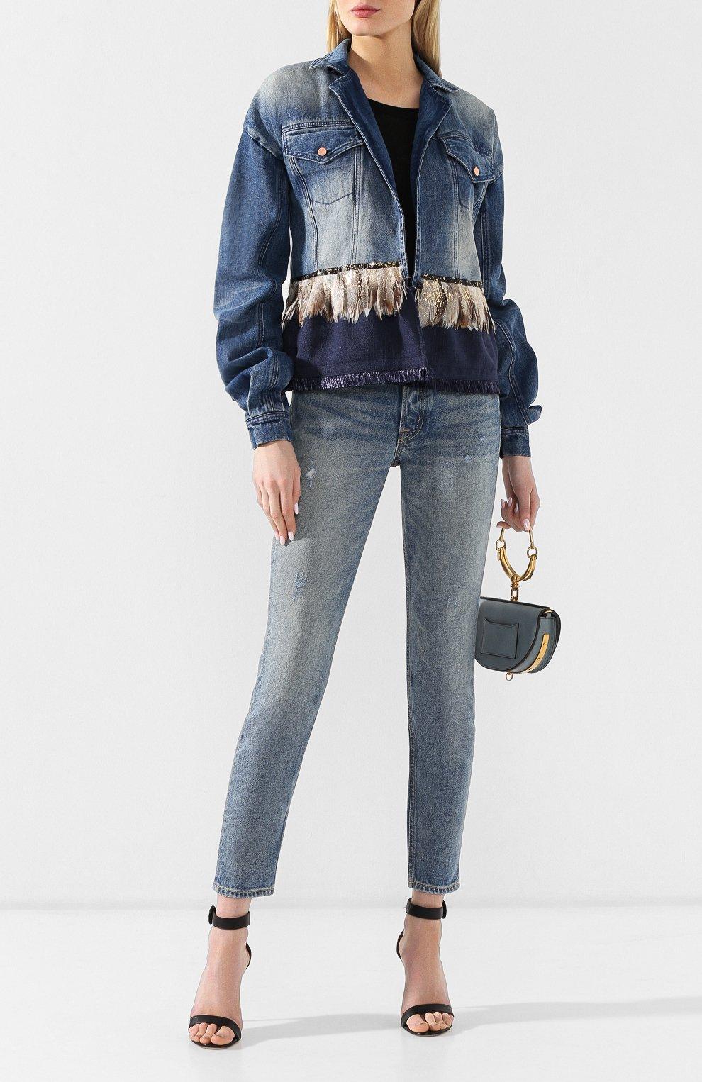 Джинсовая куртка Johanna Ortiz синяя   Фото №2