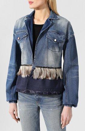 Джинсовая куртка Johanna Ortiz синяя   Фото №3