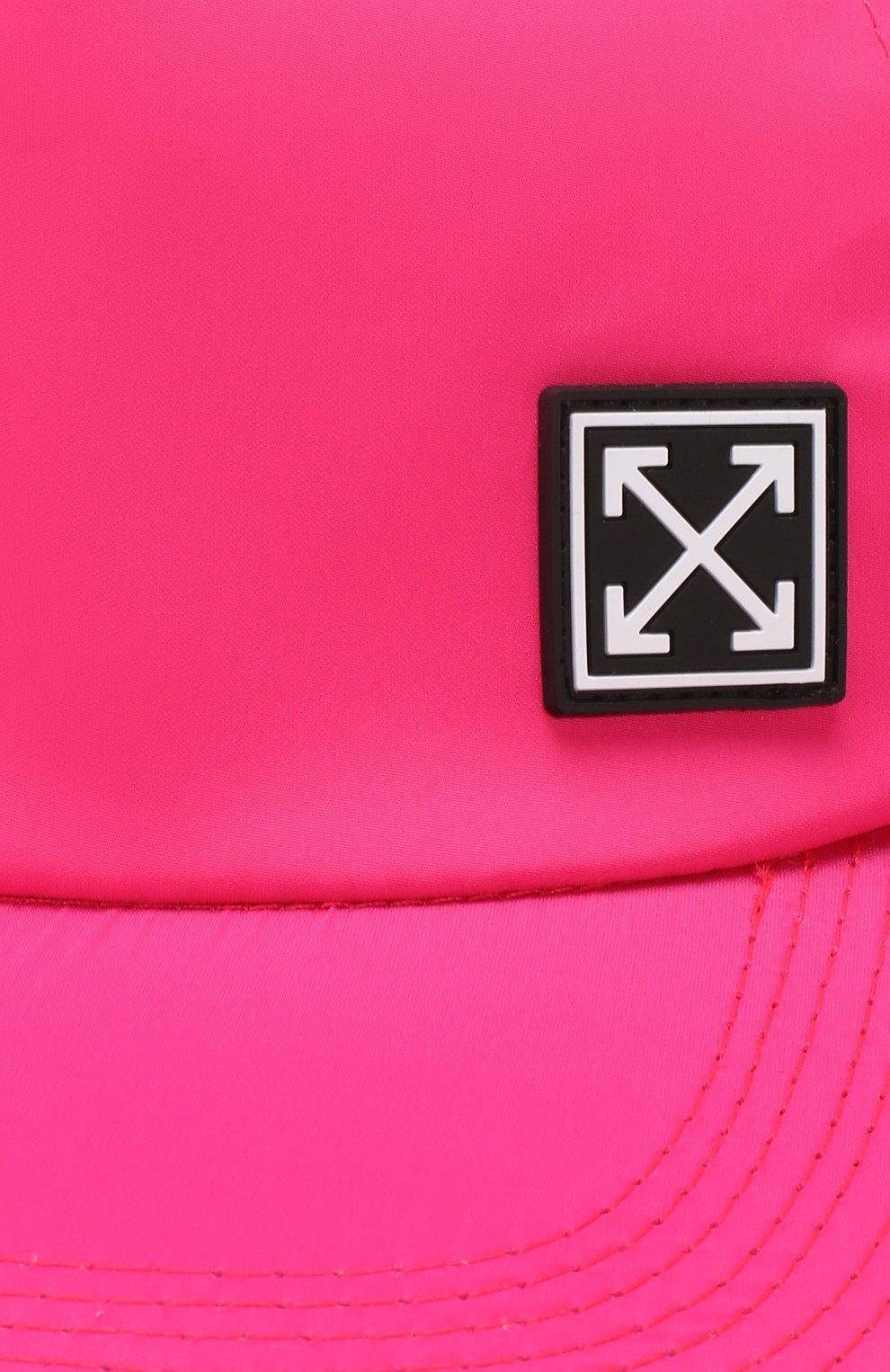 Текстильная бейсболка Off-White фуксия цвета | Фото №3