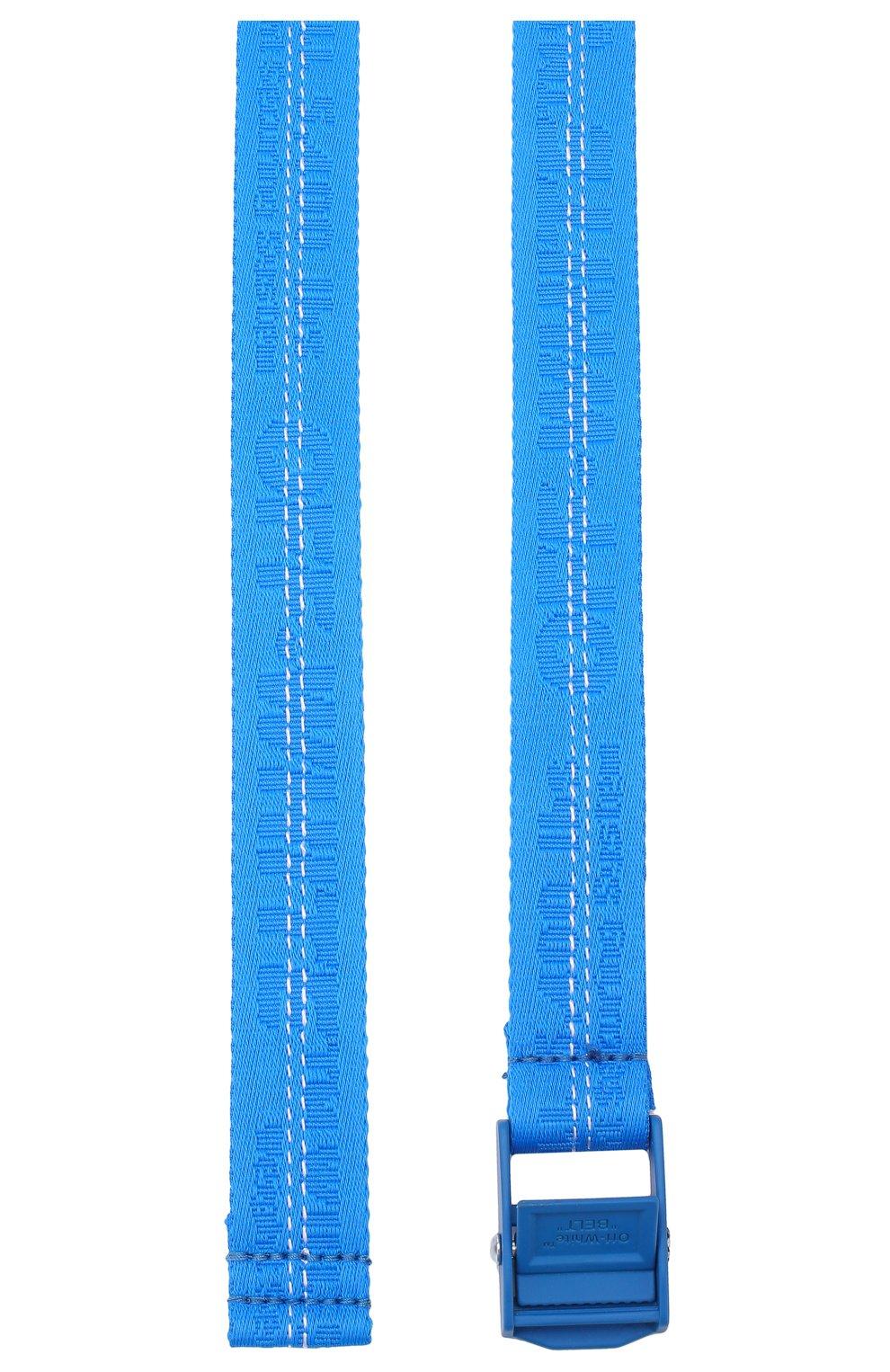 Текстильный ремень Industrial Off-White синий | Фото №2