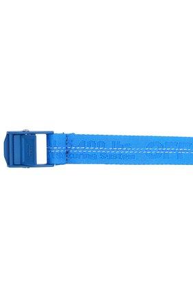 Текстильный ремень Industrial Off-White синий | Фото №3