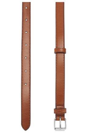 Ремень из экокожи Stella McCartney коричневый | Фото №2