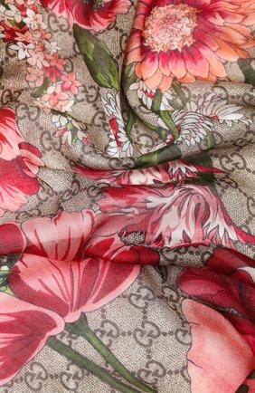 Шаль из смеси вискозы и шелка Gucci розового цвета | Фото №2