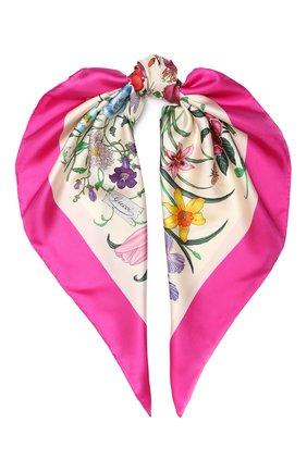 Шелковый платок Gucci кремовый | Фото №1