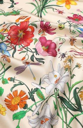 Шелковый платок Gucci кремовый | Фото №2