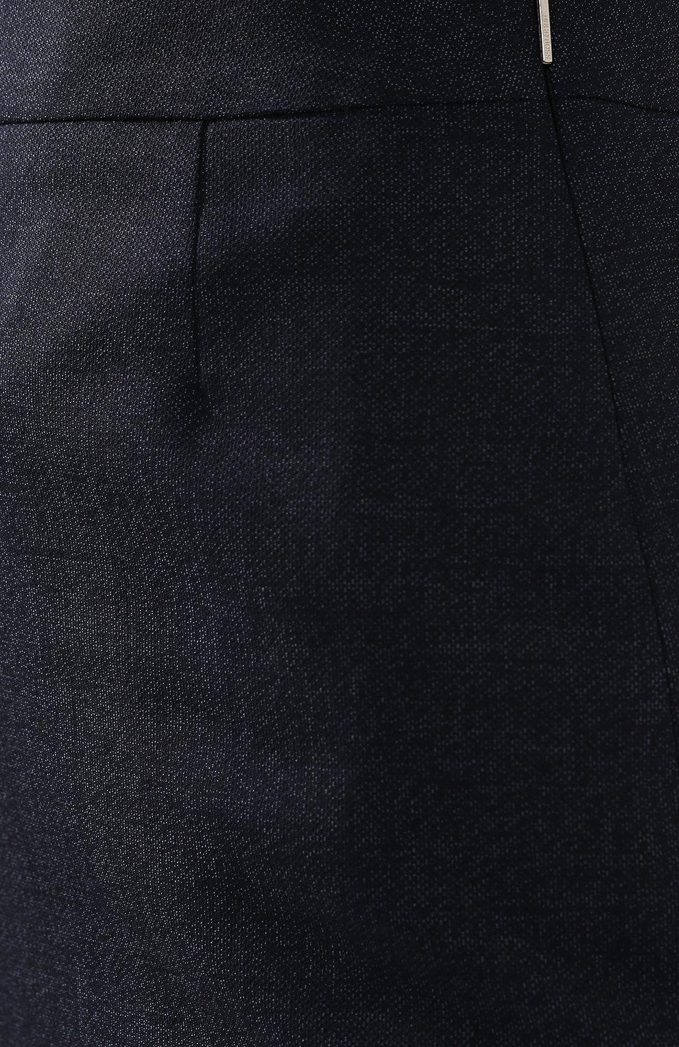 Женская шерстяная юбка BOSS темно-синего цвета, арт. 50400508   Фото 5