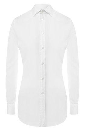 Женская хлопковая рубашка RALPH LAUREN белого цвета, арт. 290615555 | Фото 1
