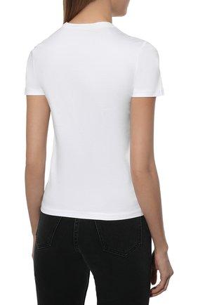 Женская хлопковая футболка LORO PIANA белого цвета, арт. FAI5069 | Фото 4