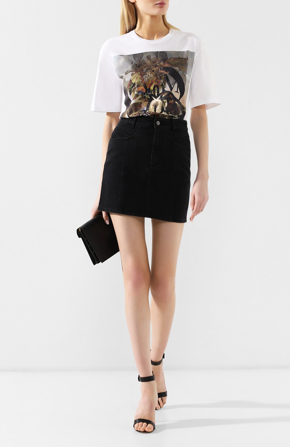 Джинсовая юбка Givenchy черная | Фото №2