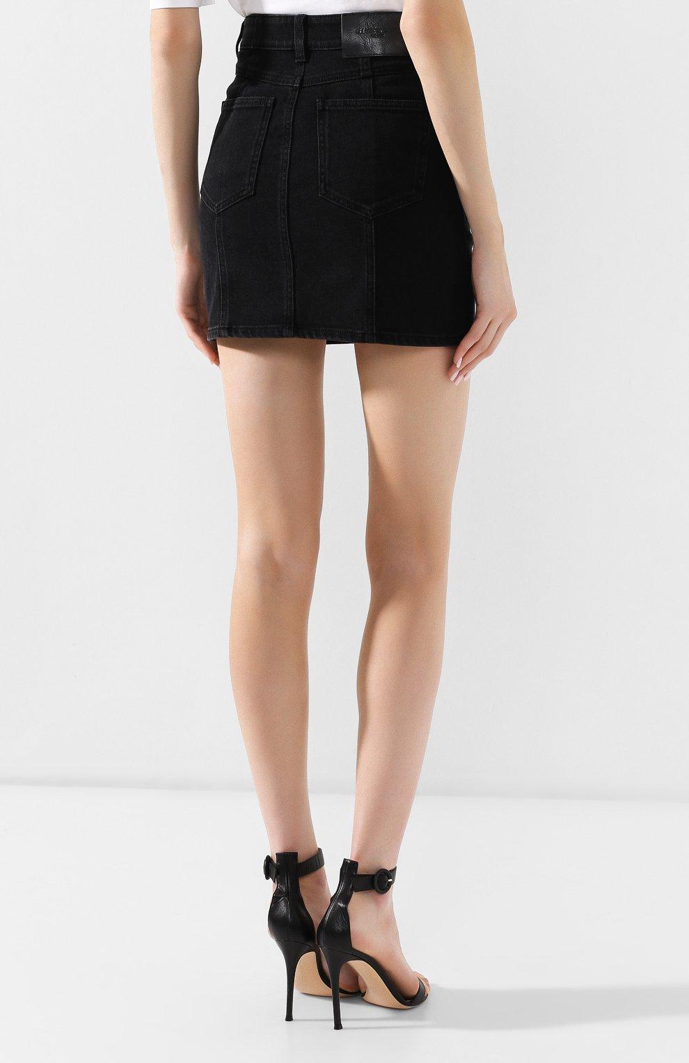 Джинсовая юбка Givenchy черная | Фото №4