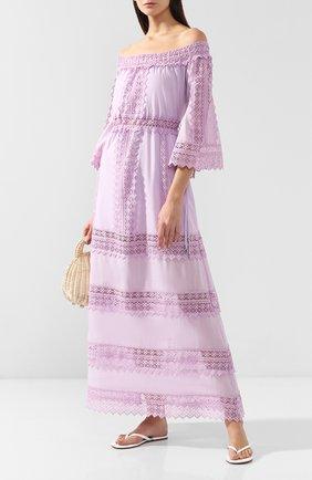 Женское хлопковое платье CHARO RUIZ IBIZA светло-розового цвета, арт. 91637 | Фото 2
