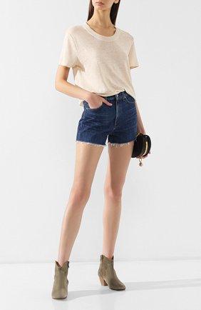 Женские джинсовые шорты CITIZENS OF HUMANITY синего цвета, арт. 993-837   Фото 2