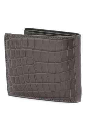 Мужской портмоне из кожи крокодила  BOTTEGA VENETA серого цвета, арт. 113993/V9023/CNIL | Фото 2