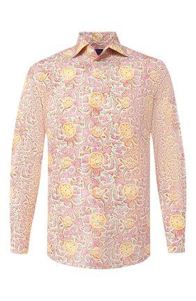 Мужская хлопковая рубашка RALPH LAUREN разноцветного цвета, арт. 791741062 | Фото 1