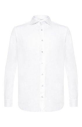 Мужская хлопковая рубашка ZILLI белого цвета, арт. MFR-12291-MERCU/RJ01 | Фото 1