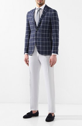 Мужская хлопковая рубашка ZILLI белого цвета, арт. MFR-12291-MERCU/RJ01 | Фото 2